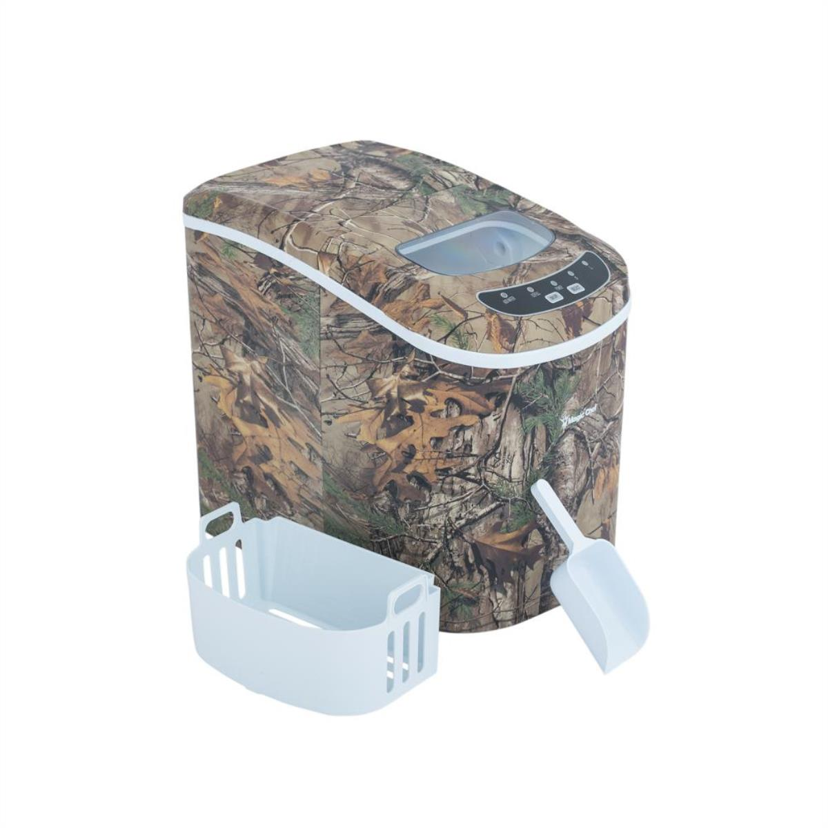 Magic Chef 27-Lb. Portable Countertop Ice Maker with Authentic Realtree Xtra Camouflage Pattern